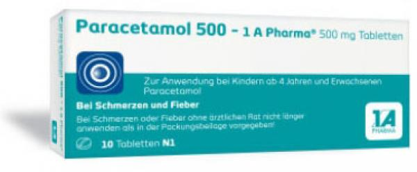 Paracetamol 500-1A Pharma, Tabletten